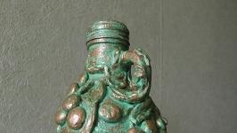 Бутылка интерьерная ′Ветки оливы′