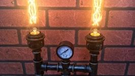 Светильник в стиле SteampunkIndustrial ′Двойной канделябр′