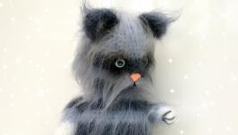 Вязанный котёнок - оригинальный подарок