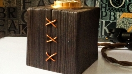 Настольная лампа ′Куб′ в стиле ЛофтСтимпанкИндастриал