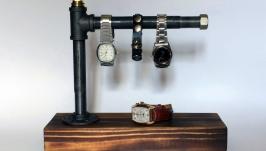 Держатель для часов и украшений в стиле Лофт из водопроводных труб
