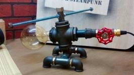 Светильник из водопроводных труб ЛофтИндастриал ′Вертолет′