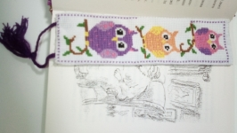 закладка для книги совушки