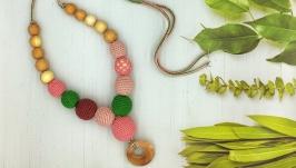 Слингобусы с можжевеловым колечком, Розово-зеленый