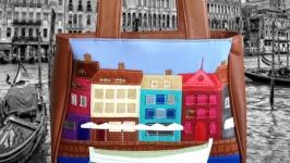 Кожаная сумка ′Венеция′