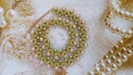 Колье, ожерелье из бисера ручной работы