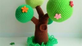 Цветущее дерево Вязаные декорации для кукольного театра