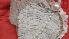 Текстильная брошь ′Перышко′