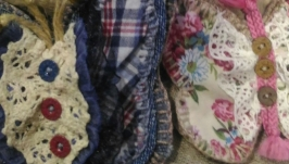 Броши из ткани ′ Бабочки′