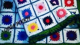 Плед для детской кроватки ′Цветы′