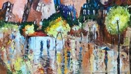Абстракция,арт «Город сквозь каплю дождя»