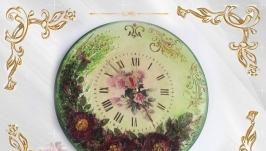 Часы настенные Цветочное танго