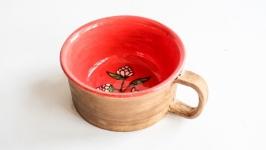Керамічна кавова чашка ручної роботи