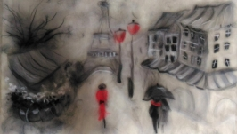 Картина из шерсти ′ Париж ′