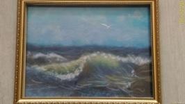 Картина из шерсти ′ Берег моря ′