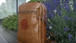 Небольшой кожаный рюкзак на 1 шлейку