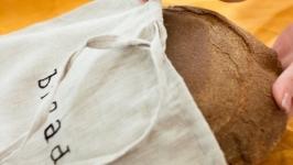 Лляний мішечок для хліба