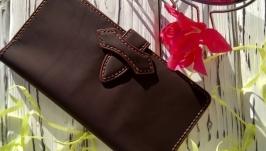 Кошелек «Traveler 7» с хлястиком и карманом на молнии