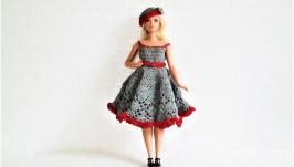 Платье для Барби-пышки в стиле 20-х годов