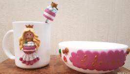 Набор посуды «Завтрак с Евочкой» Подарок для девочки