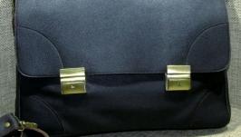 Мужской кожаный портфель ДЕЛОВОЙ СТИЛЬ коричневый