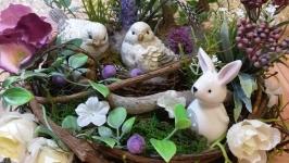 Декоративна композиція Декор интерьєра гніздо гнездо Мини міні сад топіарій