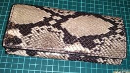 Женский кошелёк под кожу рептилии