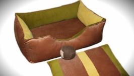 Яркий лежак для небольших собак и кошек