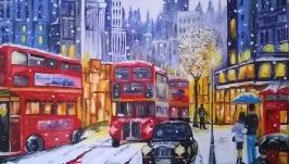 Картина маслом 40х50 Лондон