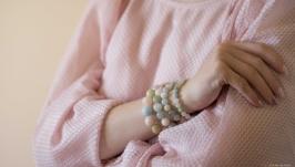 Комплект браслетов ′Акварельный этюд′