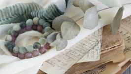 Комплект браслетов ′Клубничный лед′