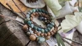Комплект браслетов ′Весенний лес′
