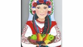 Подвесная доска - матрёшка ′Украина′