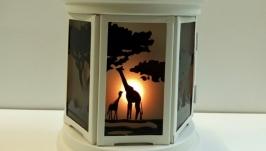 интерьерный подсвечник для греющей свечи Африка