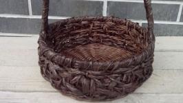 Плетеная корзина диаметр 28см_КОРЗИНА