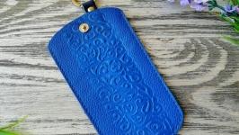 Ключница синие восточные узоры