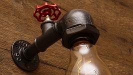 Светильник, лампа в стиле лофт, индастриал, стимпанк, ретро