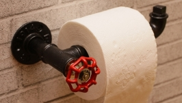 Держатель для туалетной бумаги в стиле лофт, индастриал, стимпанк, ретро