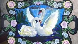 Поднос декоративный ′Белый танец′