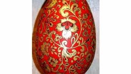 Яйцо - Шкатулка ′Золотые завитки′