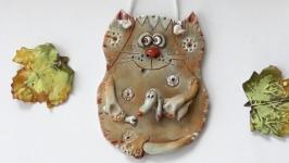Подвеска интерьерная Кот подарок в виде котика
