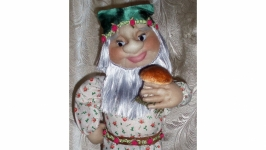 Кукла интерьерная ′Гном - грибник′