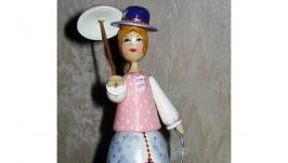 Кукла сувенирная ′Дама с собачкой ′ ( малая)