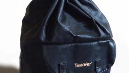 Кожаный рюкзак-мешок