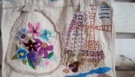 Текстильная сумка из натурального хлопка ′ Зарисовки Голландии′