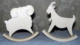 Игрушки качалки коза и баран