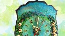 Часы настенные Ромашковый блюз