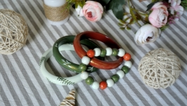 Комплект дерев'яних браслетів ′Дике поле′