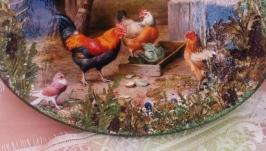 Панно Куриная семейка