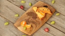 Кухонна дошка дощечка з дерева Разделочная доска для кухни продуктов «Поле»